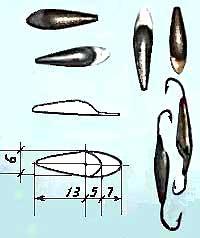 Размеры самодельной мормышки-балансира фотография