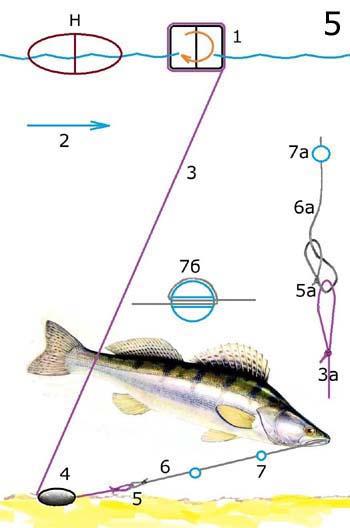 Рыболовная поставушка на судака изображение