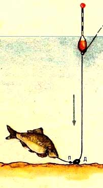 Грузило - подпасок для ловли карася чертеж