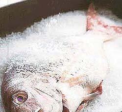 Сухой посол рыбы фотография
