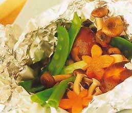 Горбуша, запеченная в духовке с грибами фотография