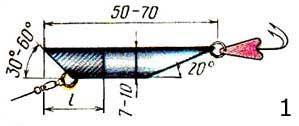 Изготовленная блесна из трубки изображение