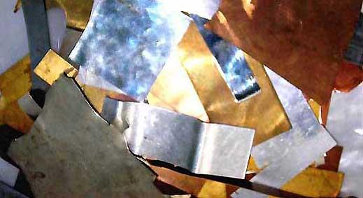 Тонкокатаные материалы для самодельных отвесных блесен фото