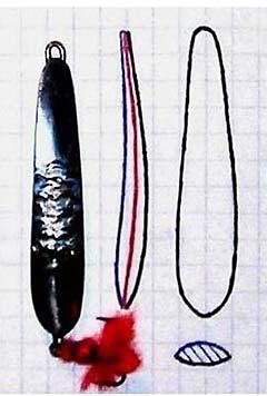 Размеры судаковой зимней самодельной планирующей блесны фотография